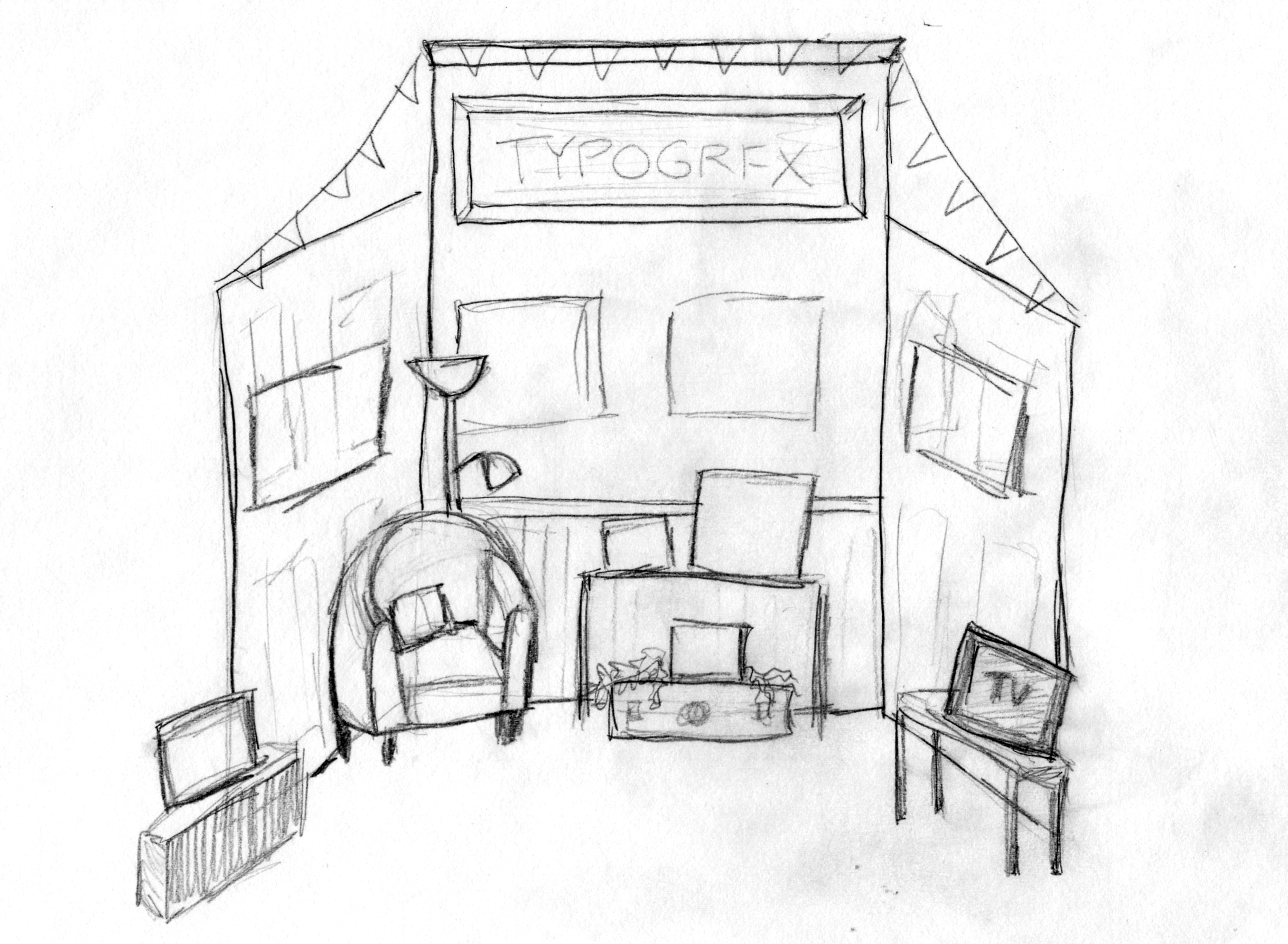 booth sketch